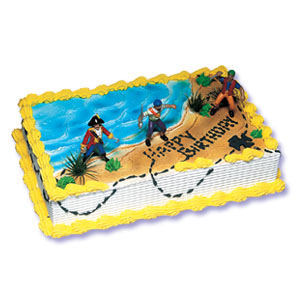 Pirate Cake Kit New-Pirate Cake Kit; Cheap cake decorations